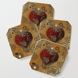 Steampunk, awesome heart Coaster
