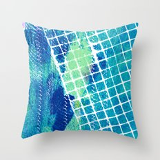 Oceans Squared Throw Pillow