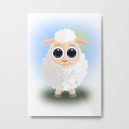 White Sheep Metal Print
