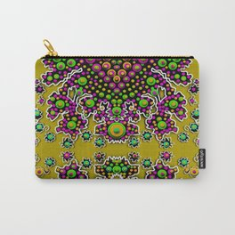 Fantasy flower peacock Mermaid with some soul in popart Carry-All Pouch