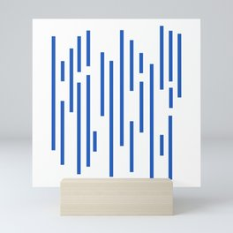 Minimalist Lines – Blue Mini Art Print