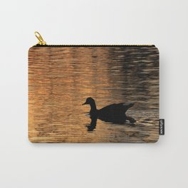 The silhouette of a duck in the river Carry-All Pouch