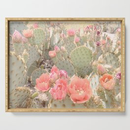Cactus Flower Series: Pink Blooms Serving Tray
