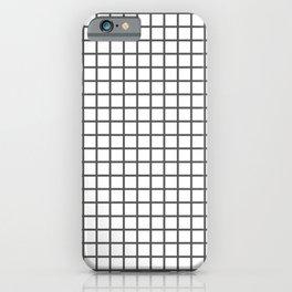 Dark Grey Grid Pattern iPhone Case