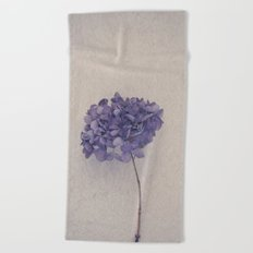 Dried Blue Hydrangea II Beach Towel