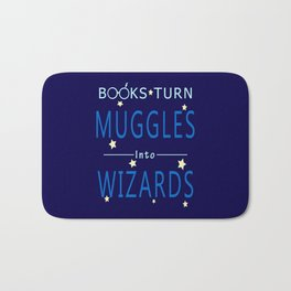 POTTER - BOOKS TURN MUGGLES INTO WIZARDS Bath Mat