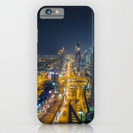 Dubai Emirates UAE Megapolis Roads night time Cities Building megalopolis Night Houses iPhone Case