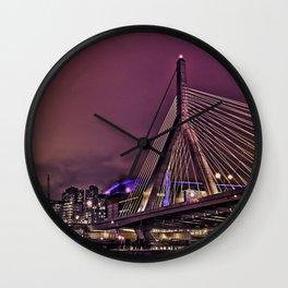 Zakim bridge, Boston MA  Wall Clock