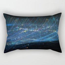 Blue light trail Rectangular Pillow