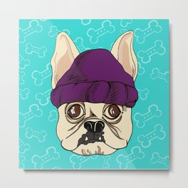 French Bully-Dog (Embellished) Metal Print