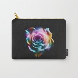 Tie Dye Colorful Rose Carry-All Pouch