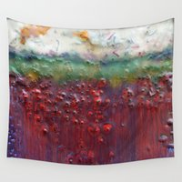 pagan Wall Tapestries featuring Colors of the Season (christmas abstract) by brenda erickson