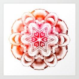 Tie-Dye Rose Ornament Art Print