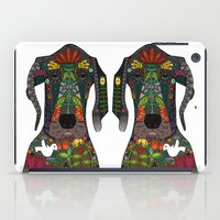great dane iPad Cases featuring Great Dane love white by Sharon Turner