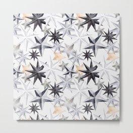 Stars Xmas Hygge Christmas Pattern Gift Ideas Metal Print