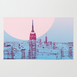 Sun In The City Skyline Design Rug