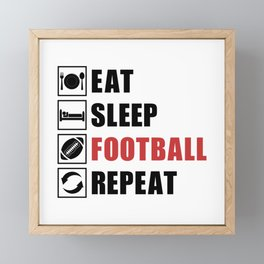 American Football Repeat Team Game USA Gift Idea Framed Mini Art Print