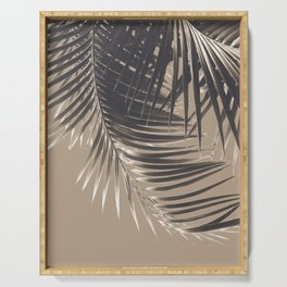 Palm Leaves Sepia Vibes #2 #tropical #decor #art #society6 Serving Tray