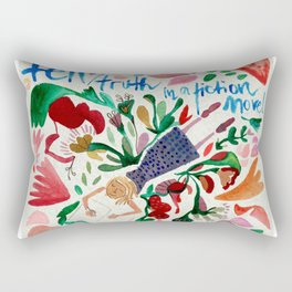 Girl Writing A Book Rectangular Pillow