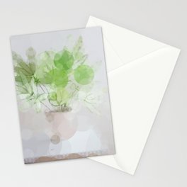 Eucalyptus Green Leaves Stationery Cards