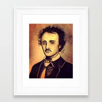 poe Framed Art Prints featuring POE by Kimberly Faye