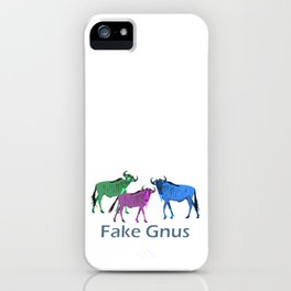Fake Gnus a Political (MIS)STATEMENT iPhone Case