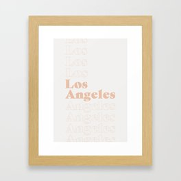 Los Angeles Type - Pink Framed Art Print