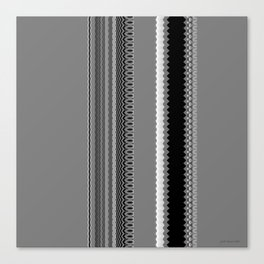 Gray Stripes Abstract Canvas Print