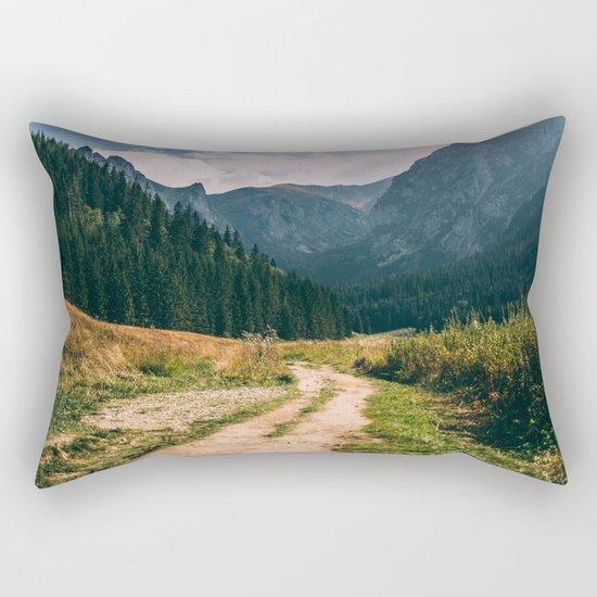 Sunny Mountain Valley Rectangular Pillow