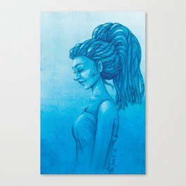 The girl with the dreads Canvas Print