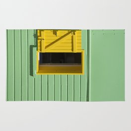 Yellow Window, Green Wall Rug