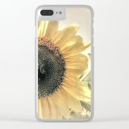 Soft Sunflower Flower Modern Country Home Decor Cottage Art A421a Clear iPhone Case