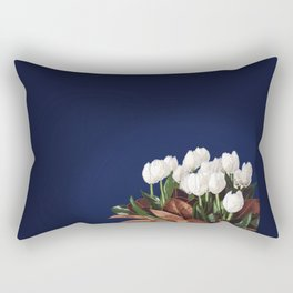 White Tulips Rectangular Pillow