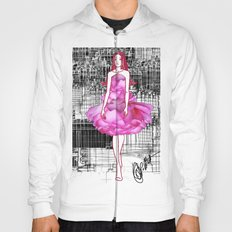 My rose dress fashion illustration concept. Hoody