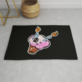 Sweet Cupcake Muffins - Cute Cheeky Cake Cartoon Rug