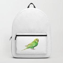 Geometric green parakeet Backpack