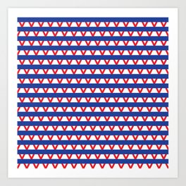 Paranoia (Blue and Red) Art Print