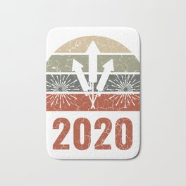 Happy New Year 2020 January 1st Fireworks Merry Christmas Xmas T-shirt Design Year Of The Rat Bath Mat