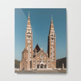 Cathedral on Dóm tér / Dom Square in Szeged, Hungary Metal Print