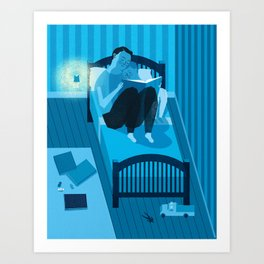 Bed Time Art Print