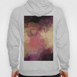 Modern Contemporary Ultra Violet Glow Abstract Hoody