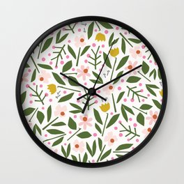 Deconstructed Floral   Spring Colors Wall Clock