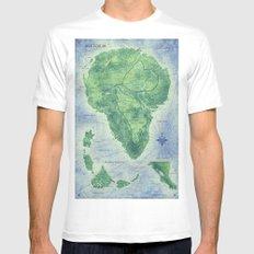 Jurassic Park - Map - Colour Mens Fitted Tee MEDIUM White