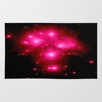 constellation Area & Throw Rugs featuring constellation : 7 Sisters of Pleaides by 2sweet4words Designs