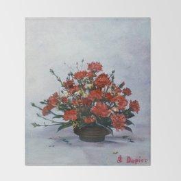 Bodegón de flores/Natureza morta de flores/Still life of flowers Throw Blanket