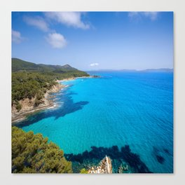 Forever French Riviera Blue Canvas Print