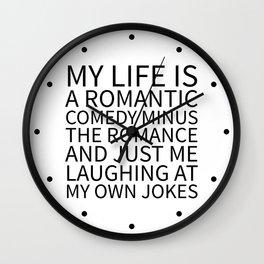 Romantic Comedy (White) Wall Clock