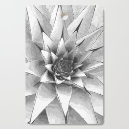 Black and White Cactus Succulent Cutting Board