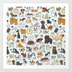 Doggy Doodle Art Print