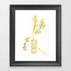 Lil' Woodchuck Planter Framed Art Print